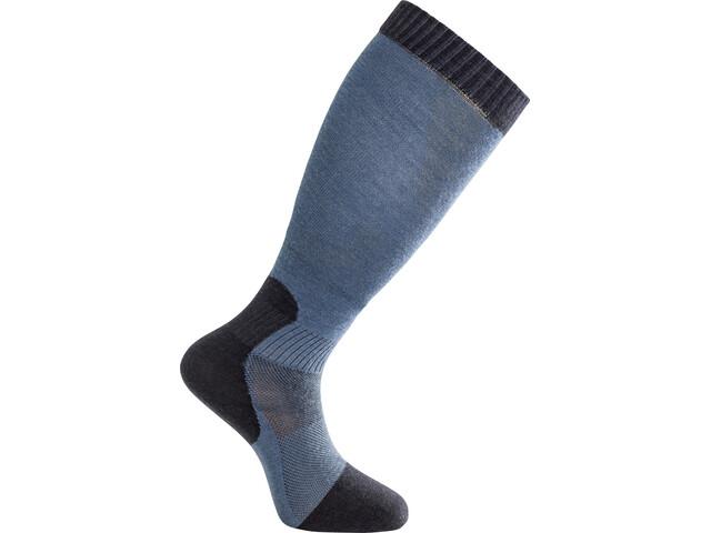 Woolpower Skilled Liner Knee-High Socks, dark navy/nordic blue